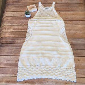 🦋Venus White Knit Sleeveless Dress
